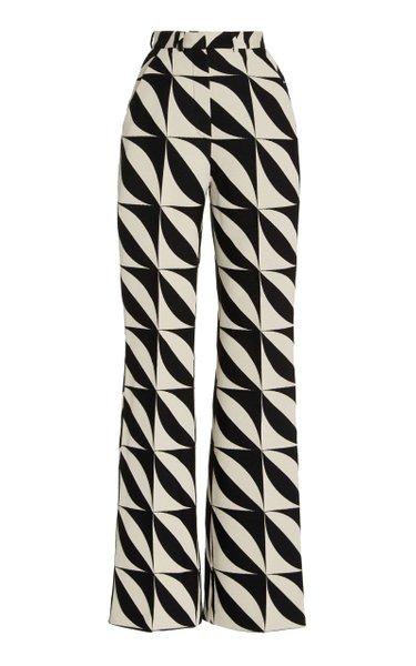 Jacquard Straight-Leg Trousers