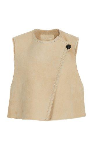 Cassylia Shearling-Lined Leather Vest
