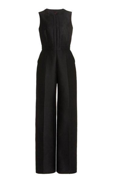 Wool-Silk Wide-Leg Jumpsuit