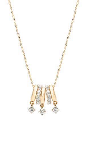 Dance Party 14k Gold Diamond Bead Necklace