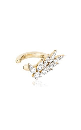 Leaves 14k Gold Diamond Ear Cuff