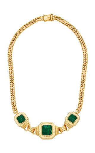 24K Gold-Plated Malachite Brandi Necklace