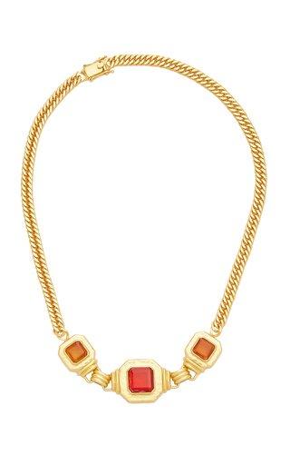 24K Gold-Plated Citrine Quartz Brandi Necklace
