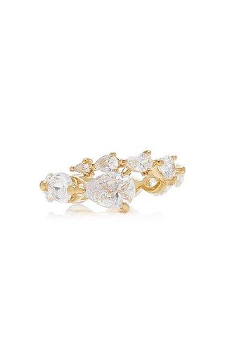 Starburst 18K White Gold Vermeil Diamond Ring