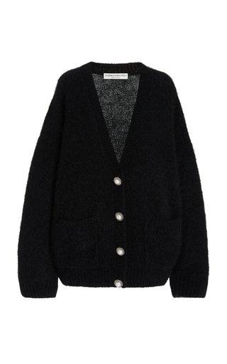 Oversized Brushed Knit Wool Cardigan