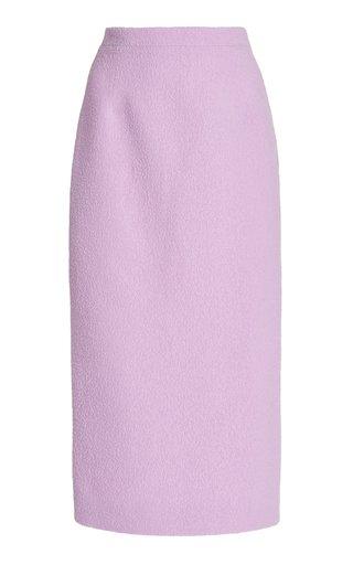 Wool-Blend Boucle Tweed Midi Pencil Skirt