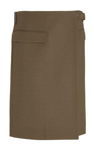 Tuxedo Virgin Wool-Blend Mini Skirt
