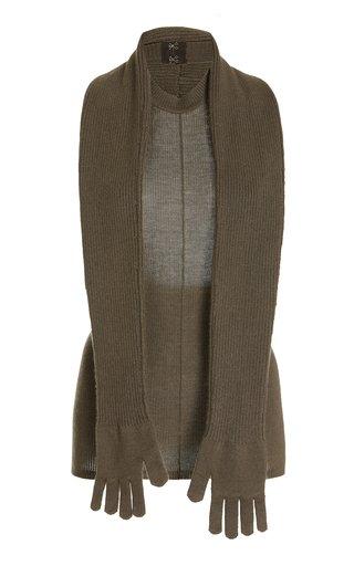 Detachable Glove Cashmere-Silk Sweater