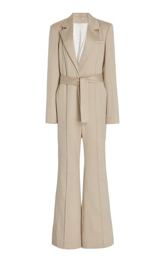 Belted Wool Jumpsuit