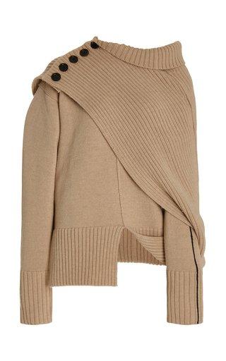 Convertible Virgin Wool Sweater