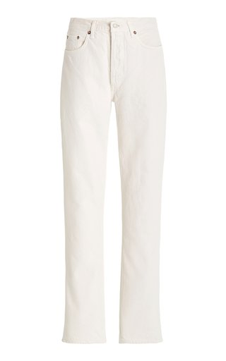 Lana Rigid Mid-Rise Straight-Leg Jeans