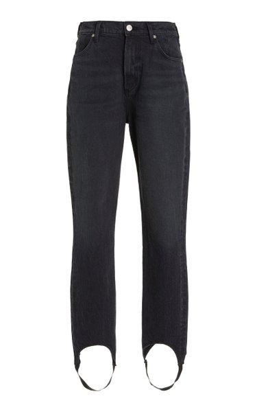 Valerie Stretch High-Rise Tapered Stirrup Jeans