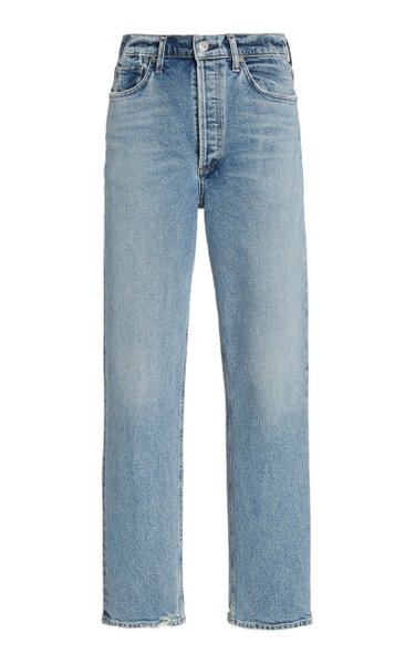 Sabine Stretch High-Rise Flared Straight-Leg Jeans