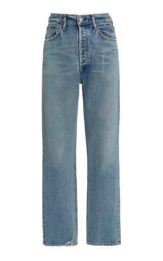 Sabine Stretch High-Rise Straight-Leg Jeans