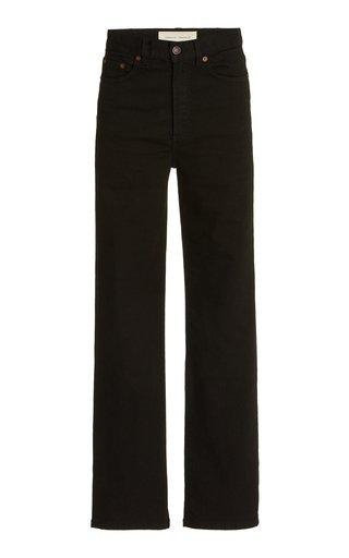 Eiffel Stretch High-Rise Organic Cotton Straight-Leg Jeans