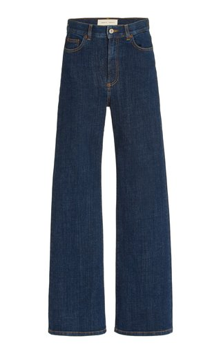 Pyramid Stretch High-Rise Flared-Leg Jeans