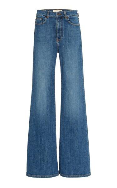 Fuji Stretch High-Rise Organic Cotton Flared-Leg Jeans