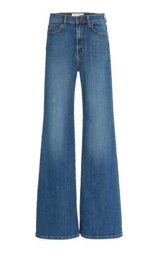 Fuji Stretch High-Rise Flared-Leg Jeans
