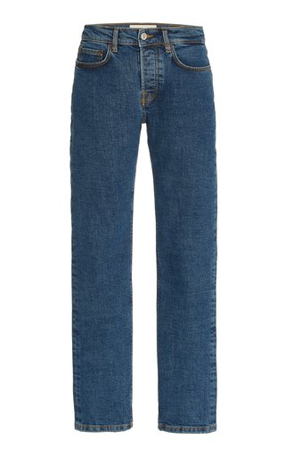 Classic Stretch Mid-Rise Tapered-Leg Jeans
