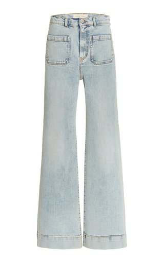 St Monica Stretch High-Rise Wide-Leg Jeans