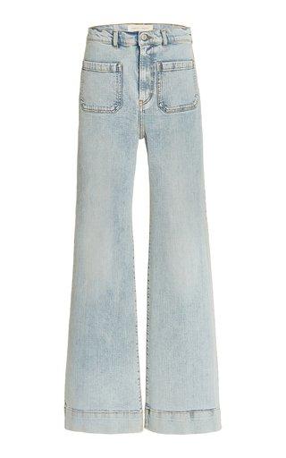 St Monica Stretch High-Rise Flared-Leg Jeans