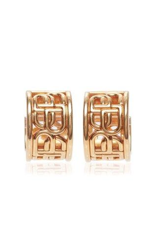 BB Gold-Plated Hoop Earrings