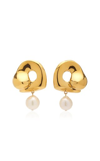 x Simone Bodmer-Turner Sandra 18K Gold Vermeil Pearl Earrings