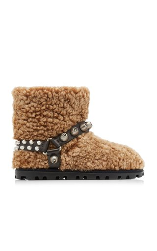 Studded Shearling Boots