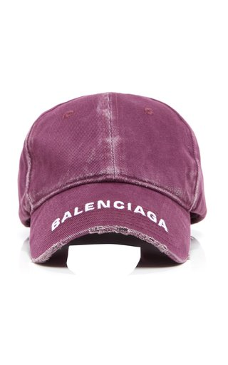 Logo-Embroidered Distressed Cotton Baseball Cap