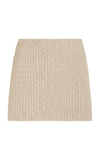 Quilted Shell Mini Skirt