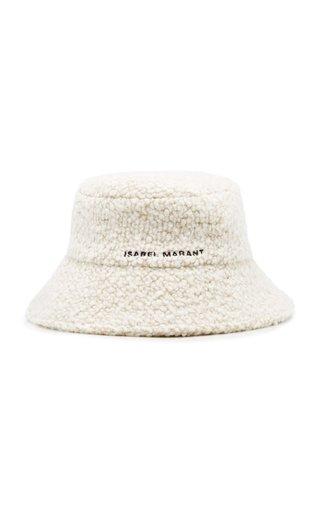 Denji Logo-Embroidered Sherpa Bucket Hat