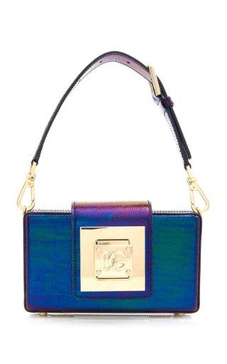 Iridescent Leather Box Bag