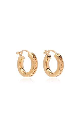 Small Greca Gold-Plated Hoop Earrings