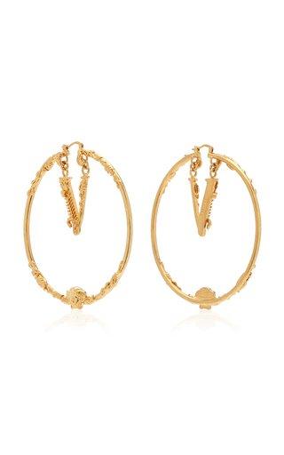Virtus Gold-Plated Hoop Earrings