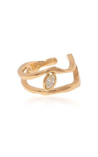 Kintsugi 18k Gold Diamond Ear Cuff
