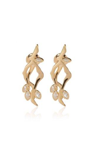 Kintsugi 18k Gold Diamond Line Earrings