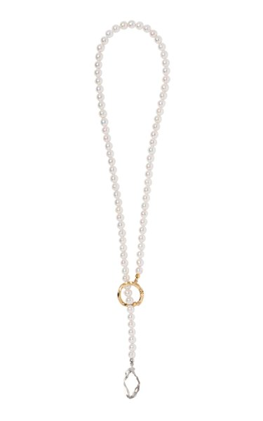 Kintsugi Infinity Grande 18k Gold Pearl Necklace