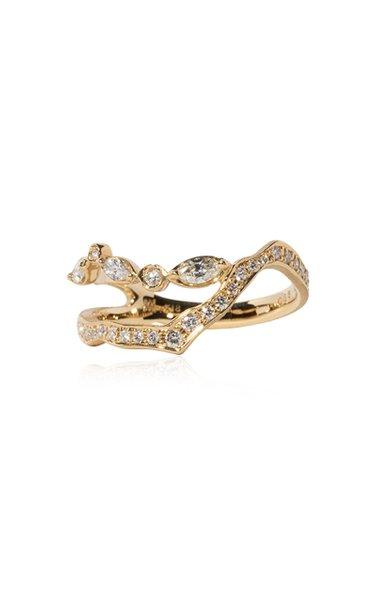 Kintsugi 18k Gold Pave Diamond Ring I