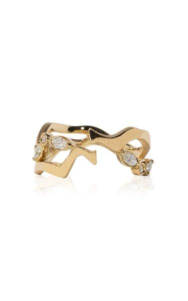Kintsugi Float 18k Gold Diamond Ring II