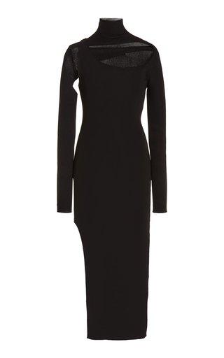 Minerva Cutout Ribbed-Knit Midi Dress
