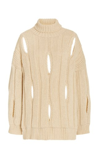 Cocoon Cutout Knit Sweater