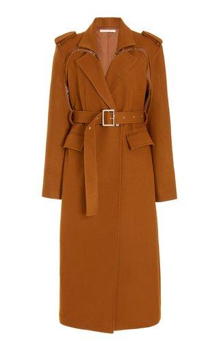 Excelsior Hook-Detailed Cutout Wool-Blend Coat