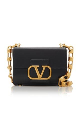 Valentino Garavani Stud Sign Leather Shoulder Bag