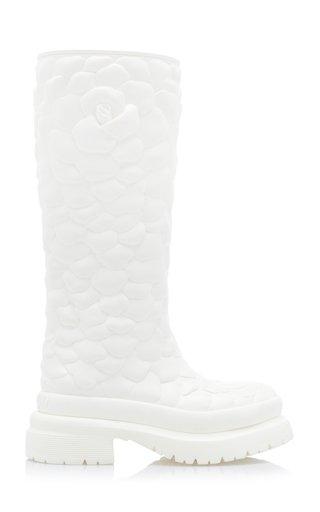 Valentino Garavani Rose Atelier Leather Boots