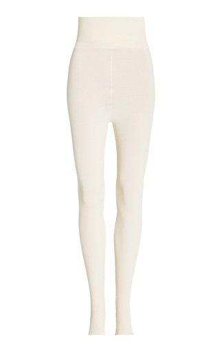 Saros Ribbed-Knit Jersey Stirrup Leggings
