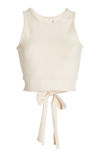 Ballet Tie-Detailed Stretch-Jersey Top