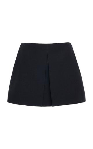 Wool And Silk-Blend Mini Skirt