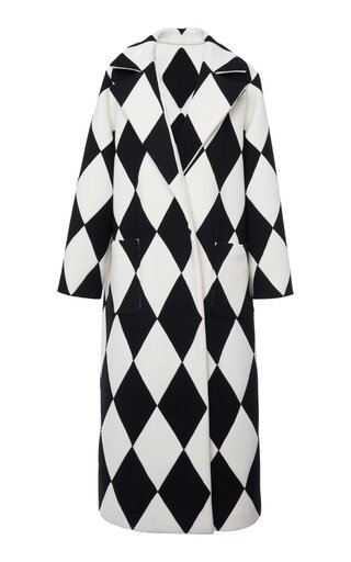 Printed Wool And Cashmere-Blend Coat