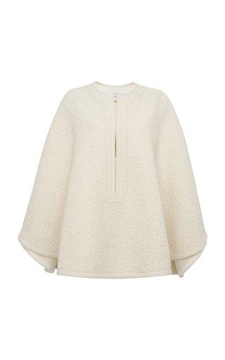 Textured Wool Bouclé Cape