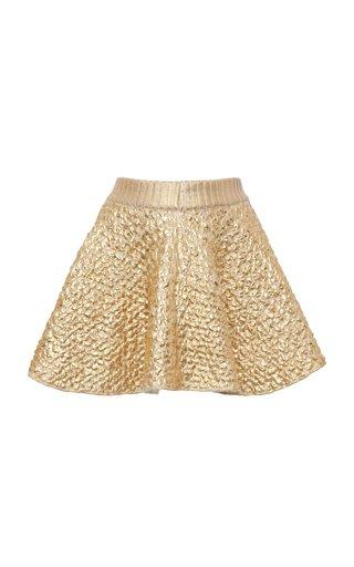 Knitted Wool-Blend Mini Skirt